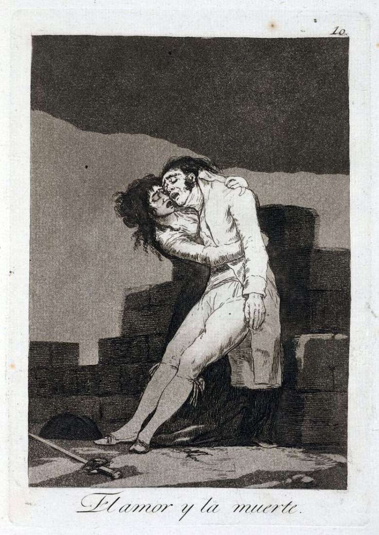 Love and Death by Francisco de Goya