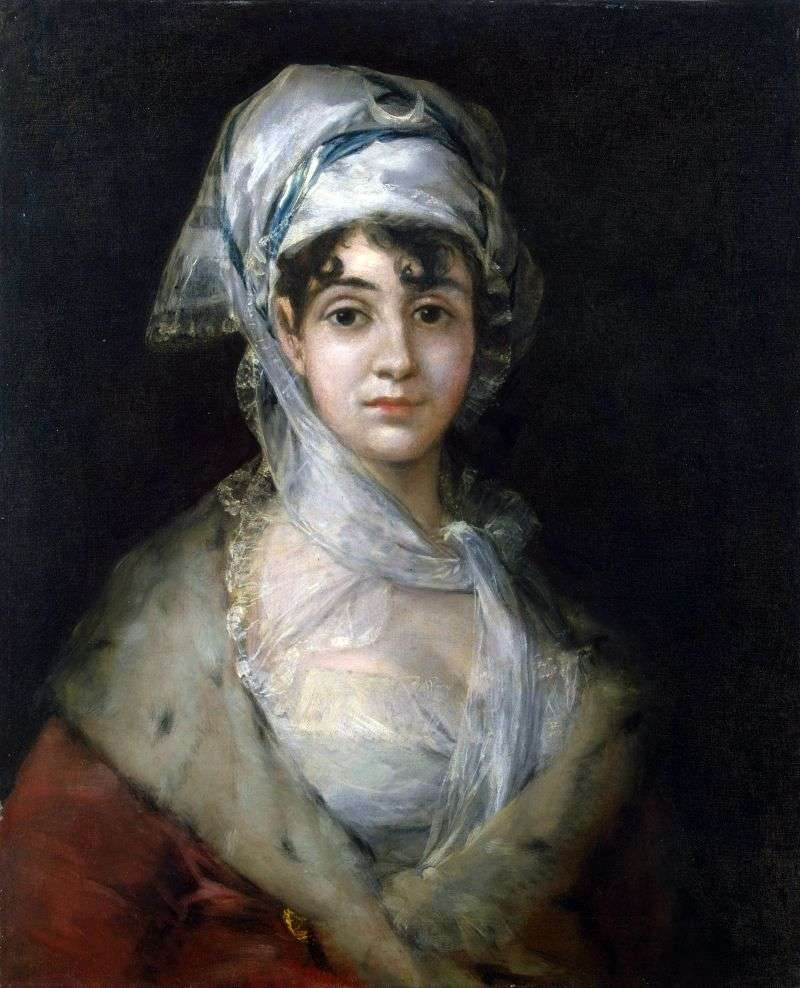 Portrait of actress Anthony Sarate by Francisco de Goya