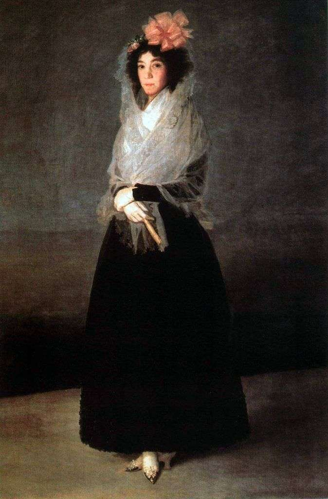 Portrait of Countess Carpio, Marquise de la Solana by Francisco de Goya