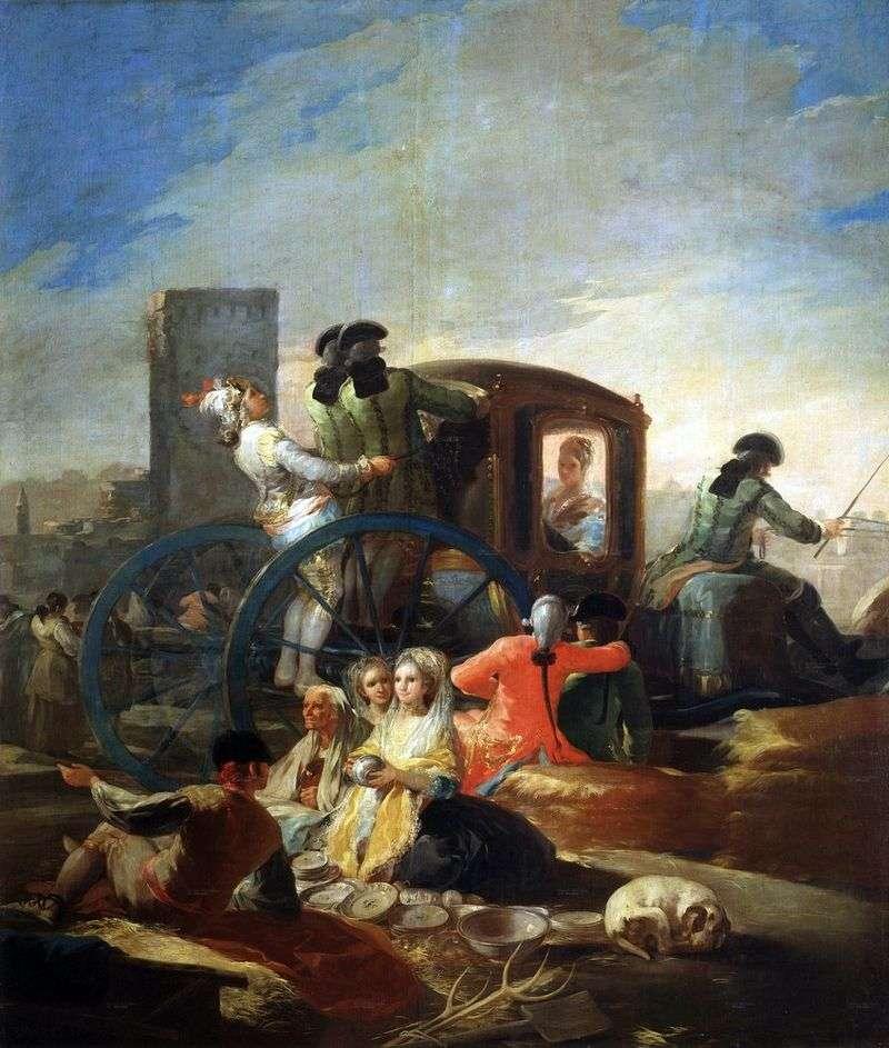 The seller of ware by Francisco de Goya