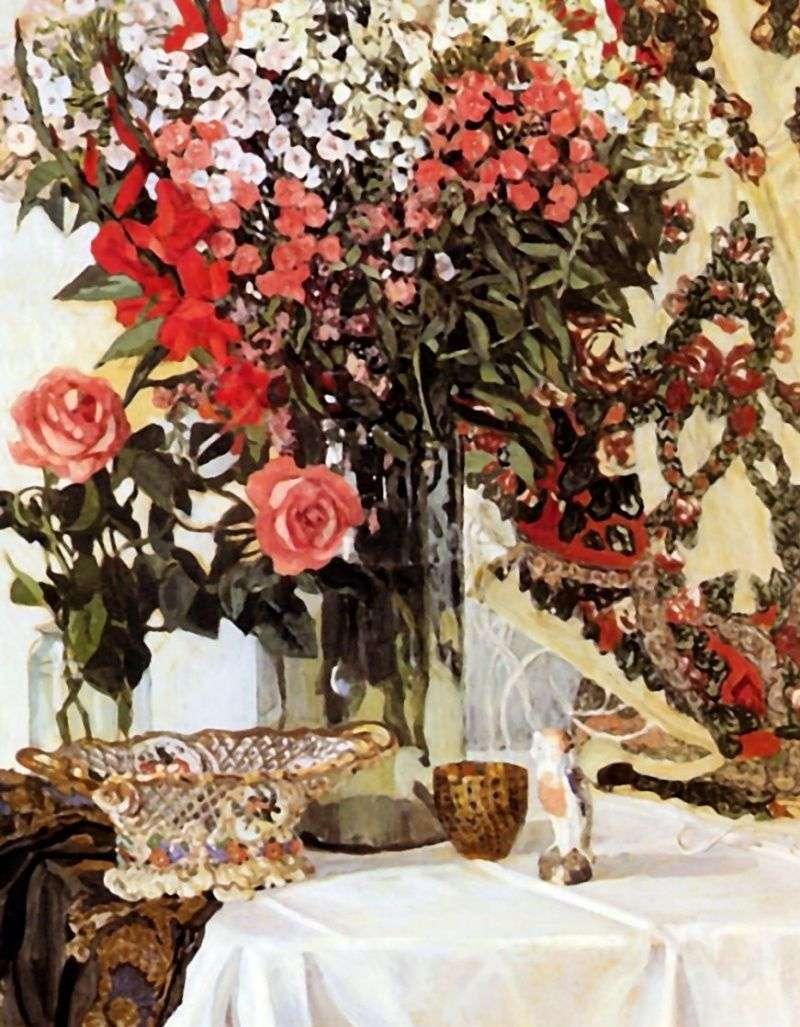 Still life. Flowers in a vase by Alexander Golovin