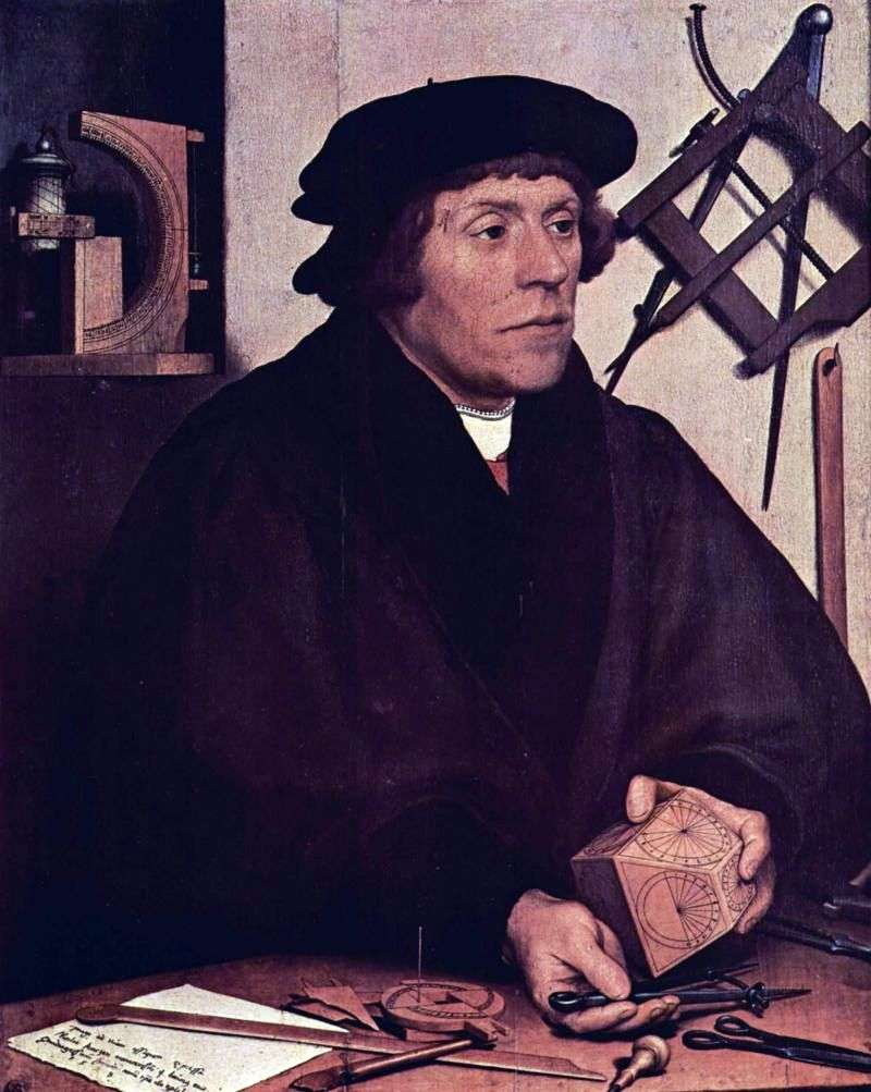 Portrait of the astronomer Nicolas Kratzer by Hans Holbein
