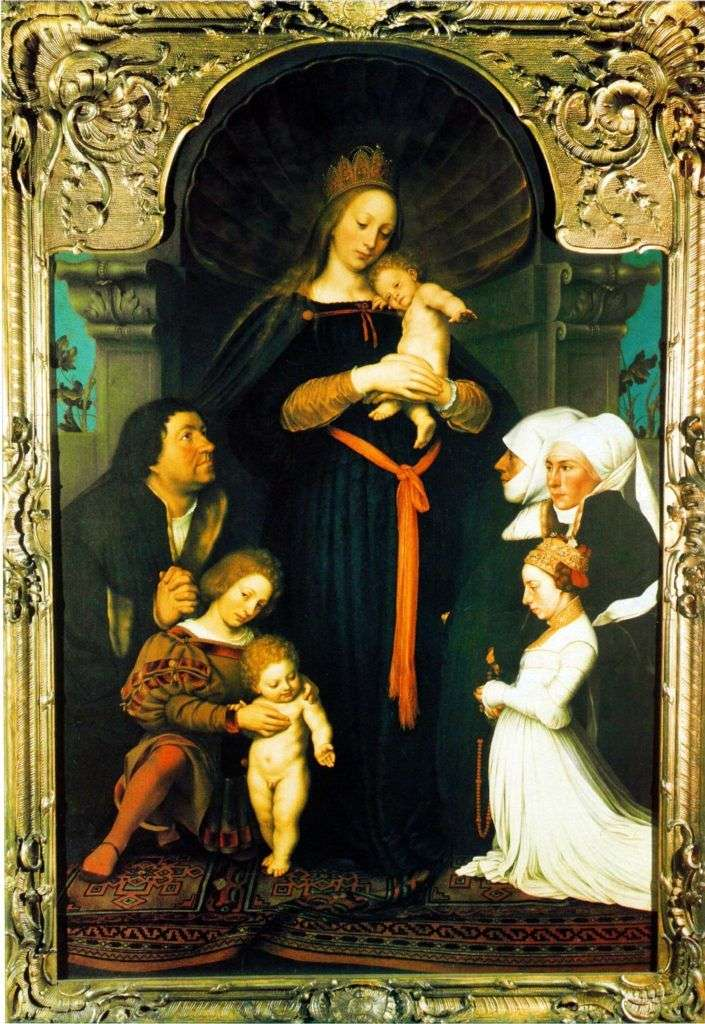 Madonna of Mayor by Hans Holbein