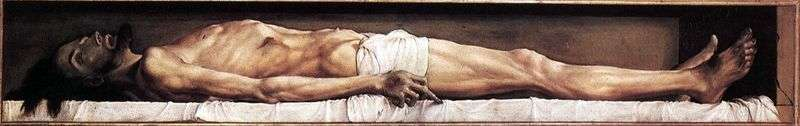 Dead Christ by Hans Holbein