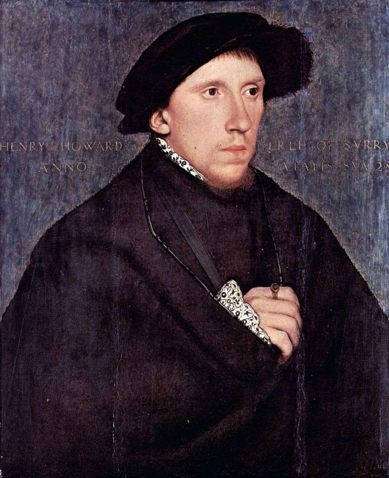 Portrait of Henry Howard by Hans Holbein