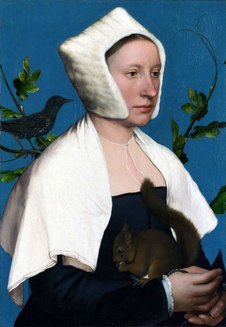 Portrait of a Lady with a Squirrel by Hans Holbein