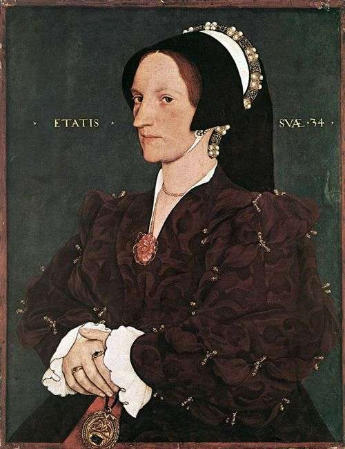 Portrait of Margarita White Lady Leigh by Hans Holbein