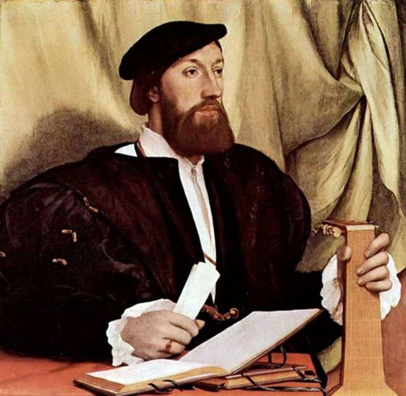 Portrait of a Man with a Lute by Hans Holbein