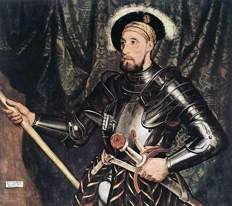 Portrait of Sir Nicholas Carew by Hans Holbein