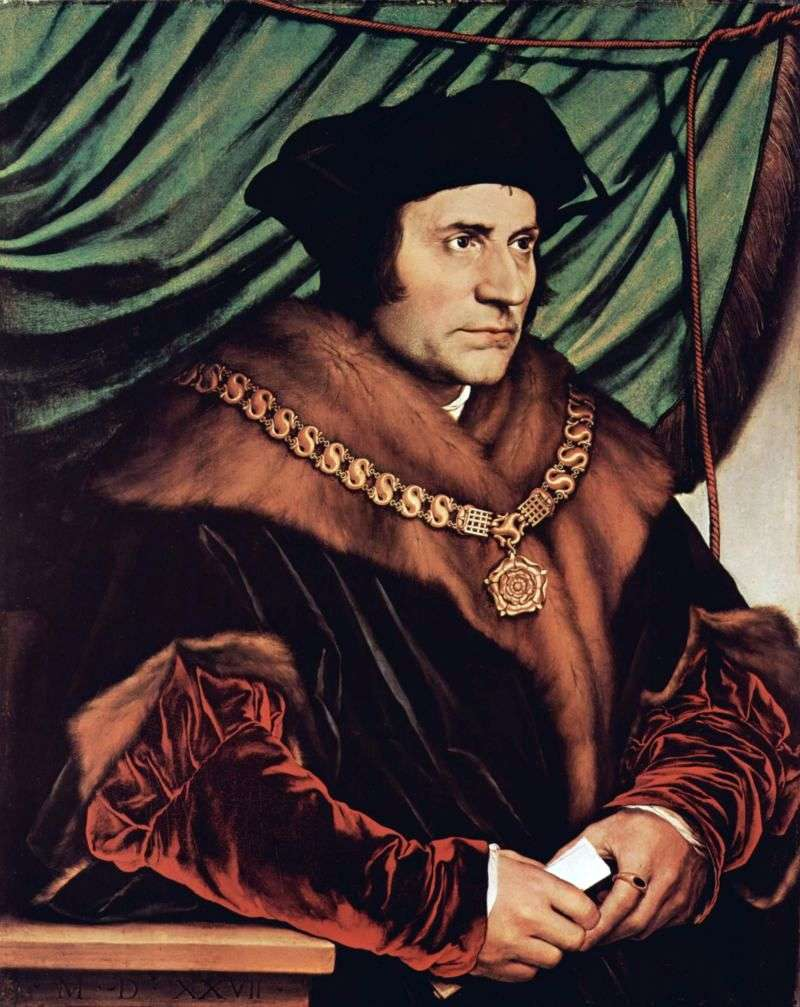 Portrait of Sir Thomas More by Hans Holbein