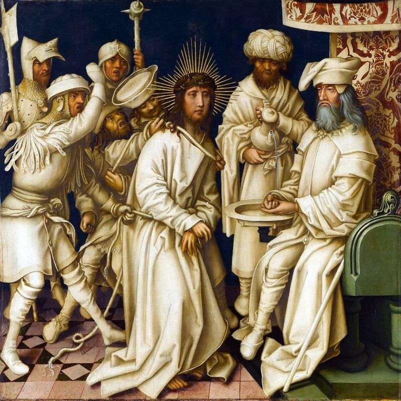 Christ before Pilate by Hans Holbein