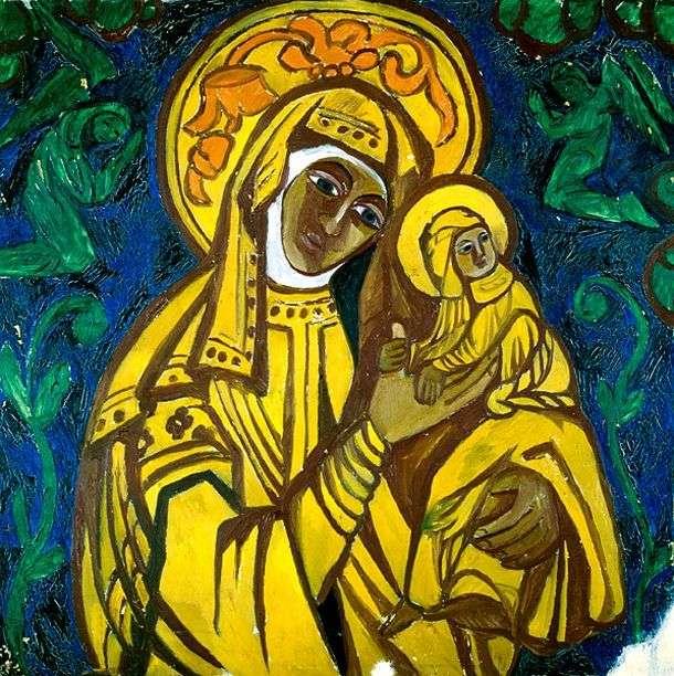 The Virgin and Child by Natalia Goncharova