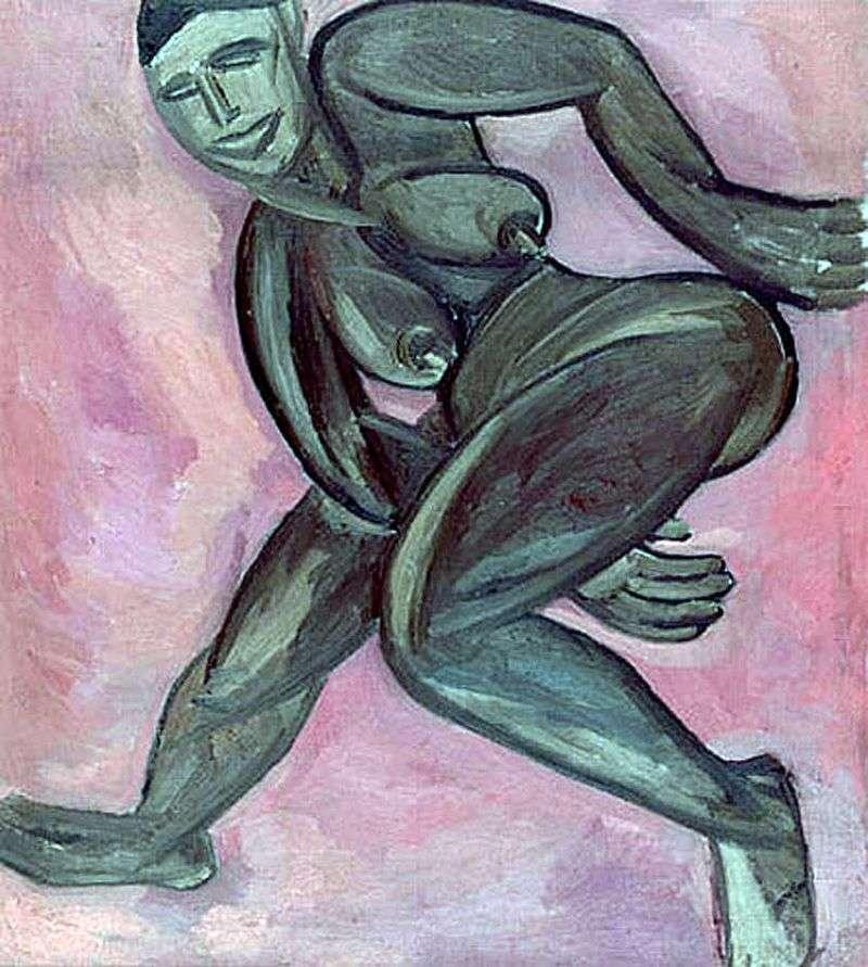 Naked black woman by Natalia Goncharova