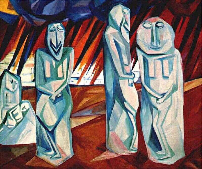 The salt pillars by Natalia Goncharova