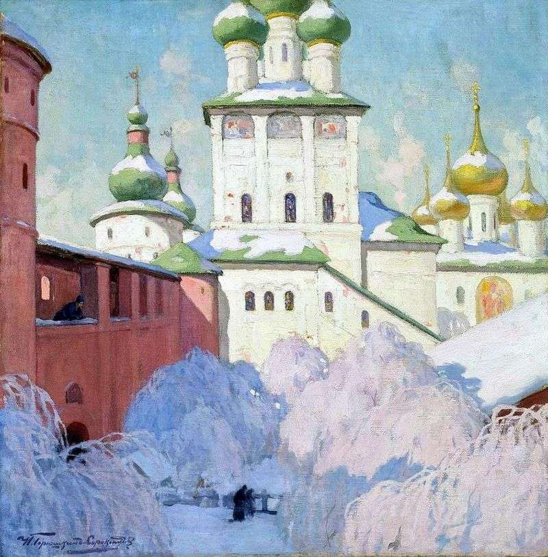 Winter. The Rostov Kremlin by Ivan Goryushkin Sorokopudov