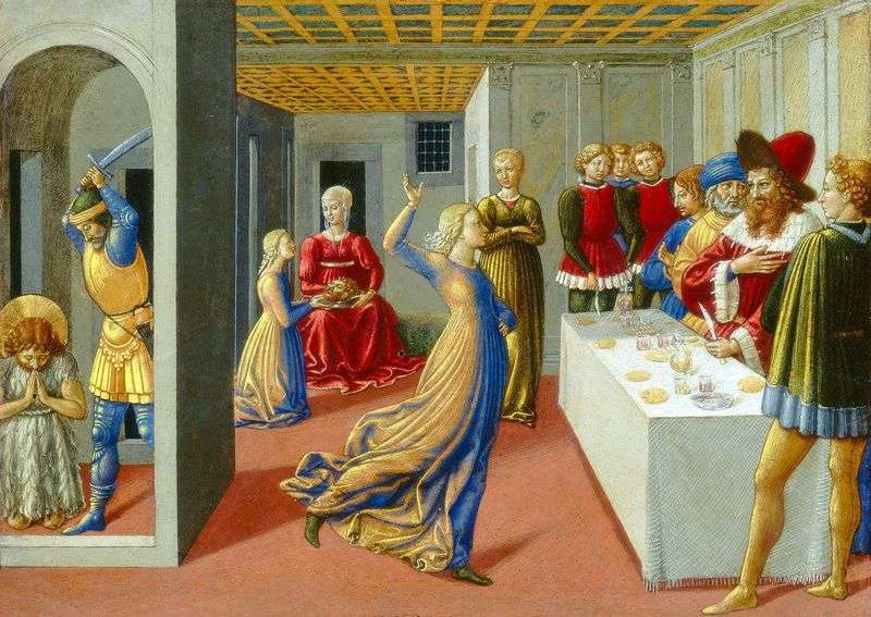 The Feast of Herod and the Beheading of John the Baptist by Benozzo Gozzoli