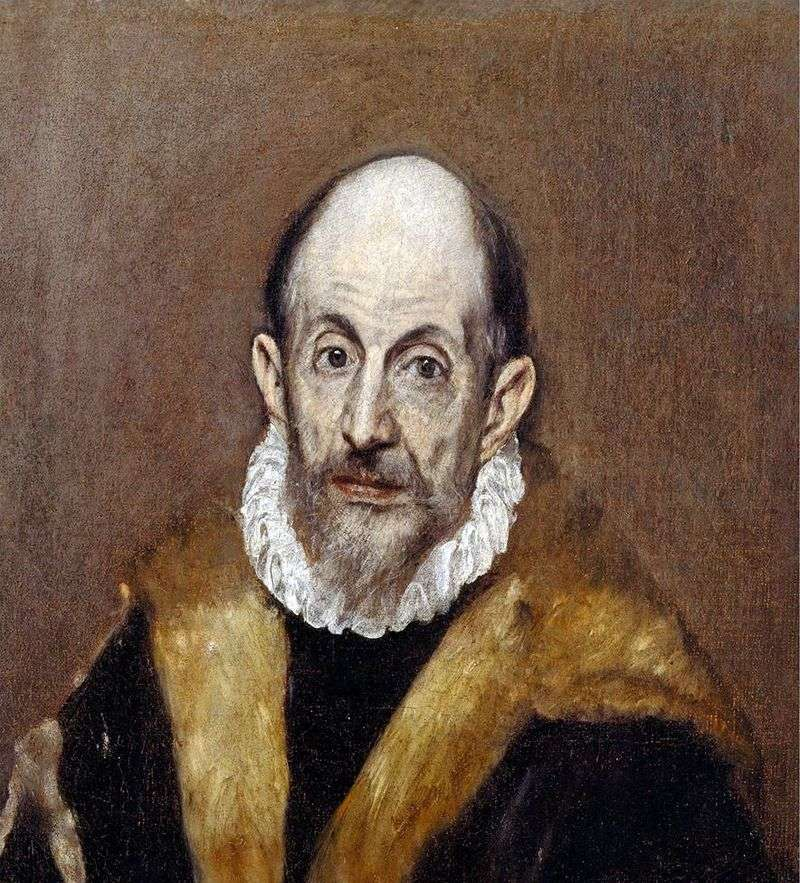 Self portrait by El Greco