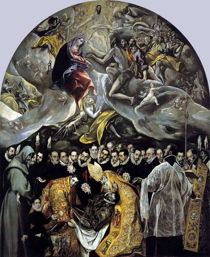 Burial of Count Orgas by El Greco