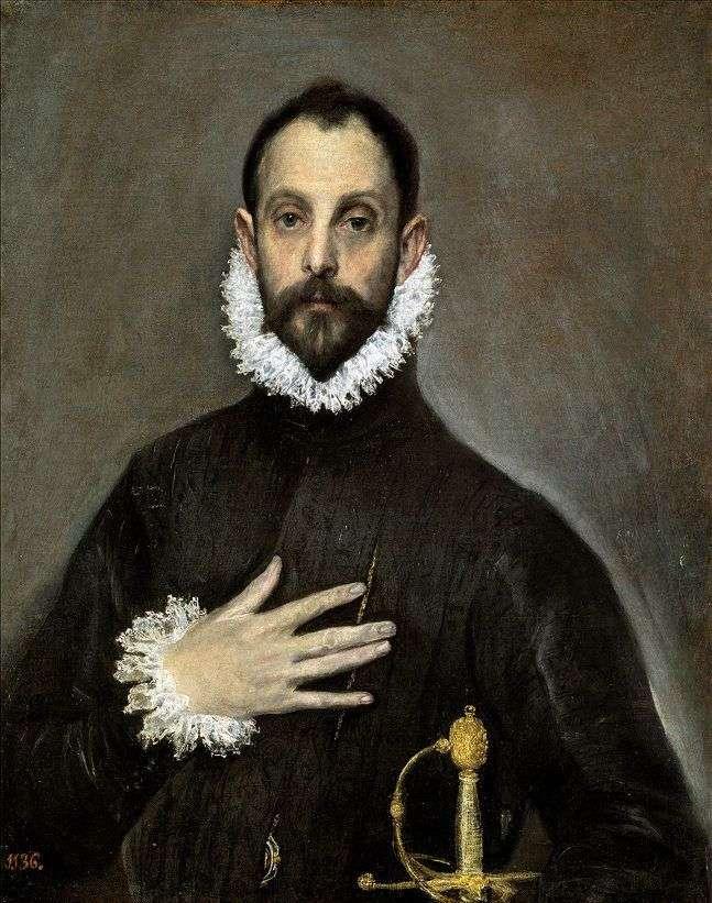 Portrait of an elderly nobleman by El Greco