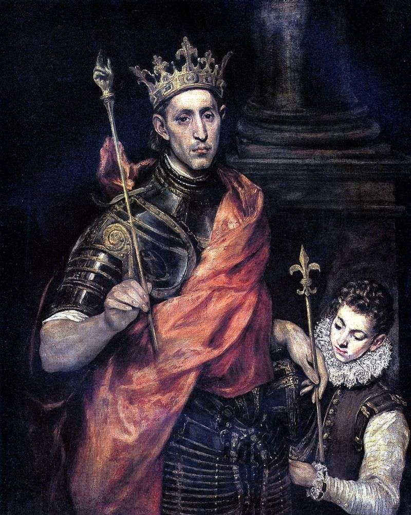 Saint Louis, King of France and page by El Greco