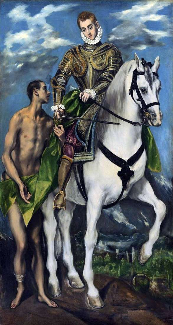 Saint Martin and the Pauper by El Greco