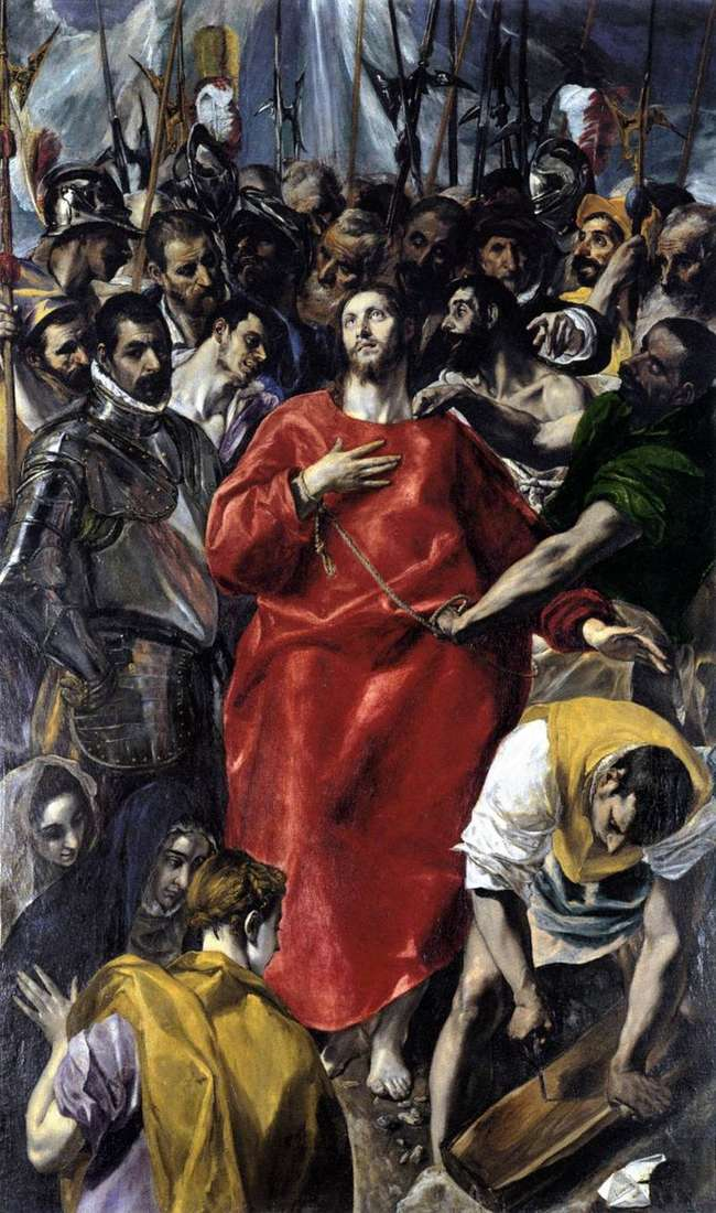 Removing clothes from Christ (Espolio) by El Greco