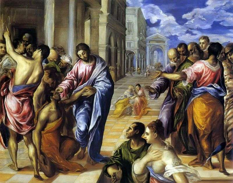 Christ heals the blind by El Greco
