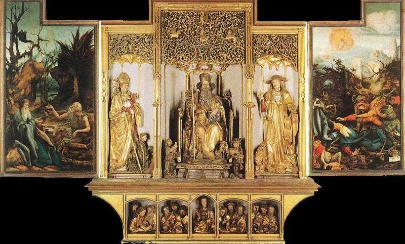 The Isenheim altar sculptural composition by Matthias Grunewald
