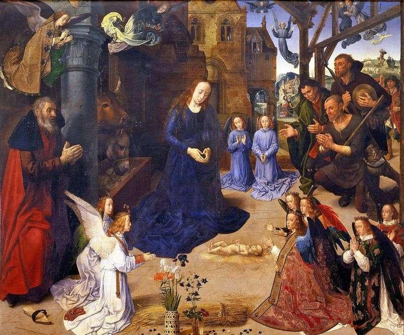 The Adoration of the Shepherds (Altar of Portinari) by Hugo van der Gus