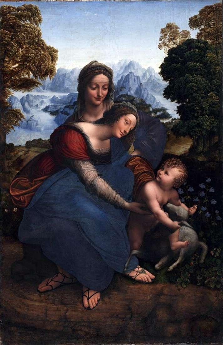The Virgin Mary with a child and St. Anna by Leonardo da Vinci