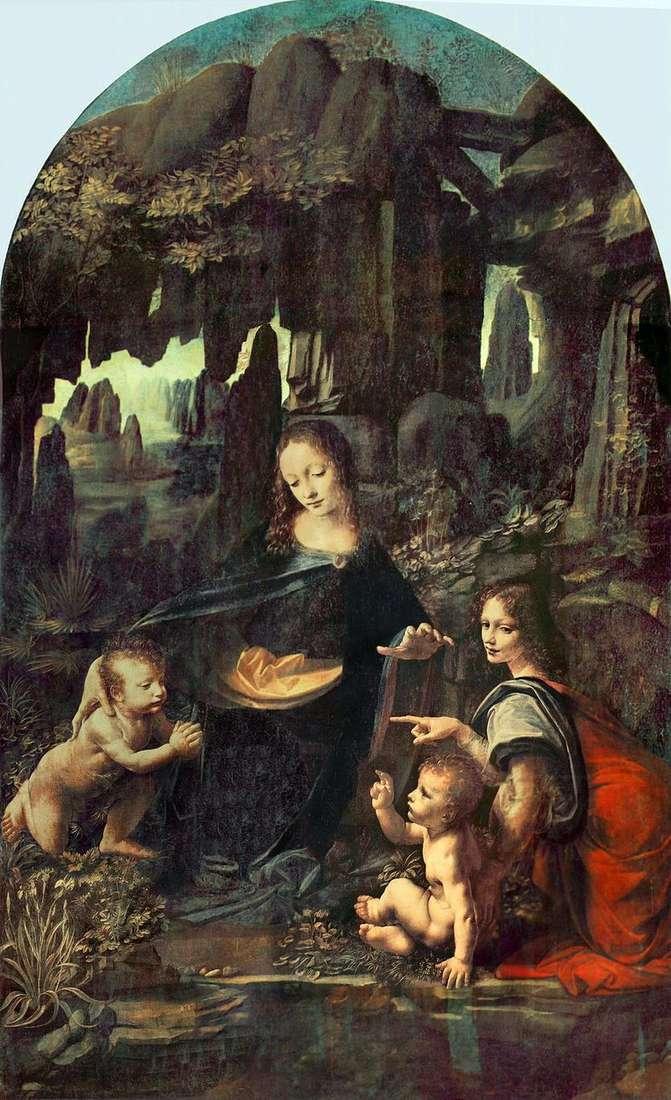 Madonna in the rocks (Madonna in the grotto) by Leonardo da Vinci