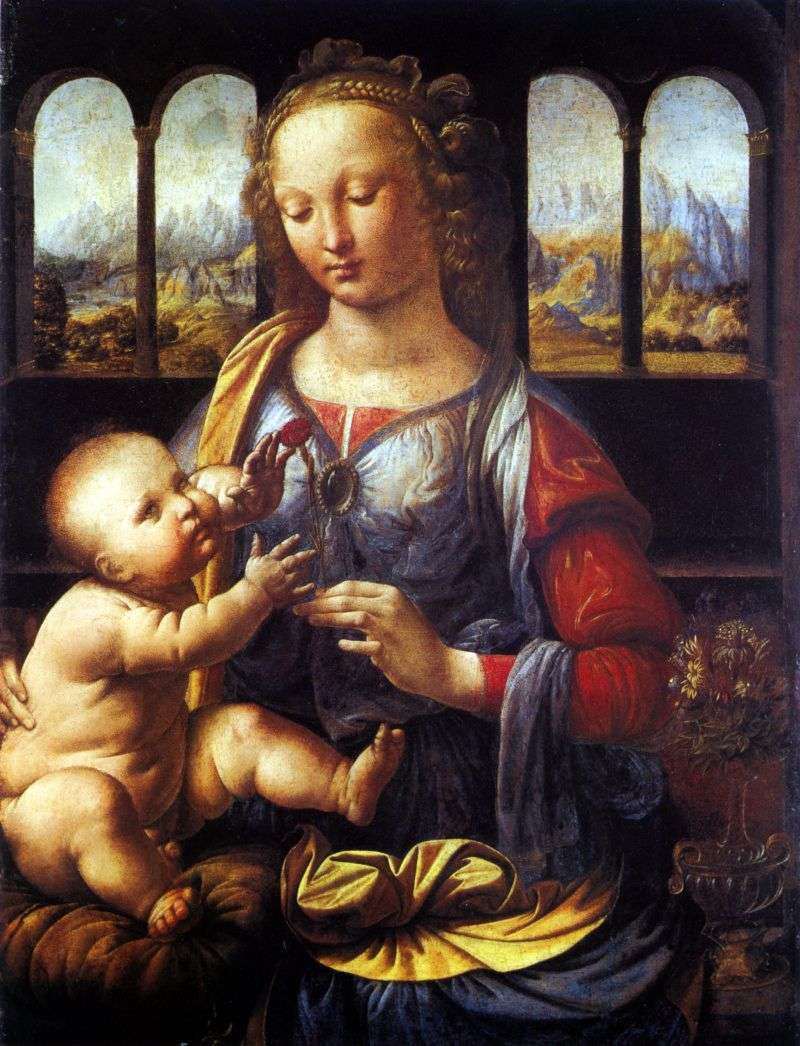 Madonna with a carnation by Leonardo Da Vinci