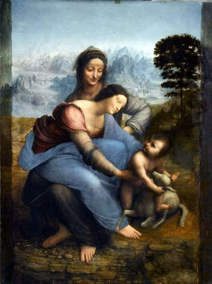 Madonna with the Child and Saint Anna by Leonardo da Vinci