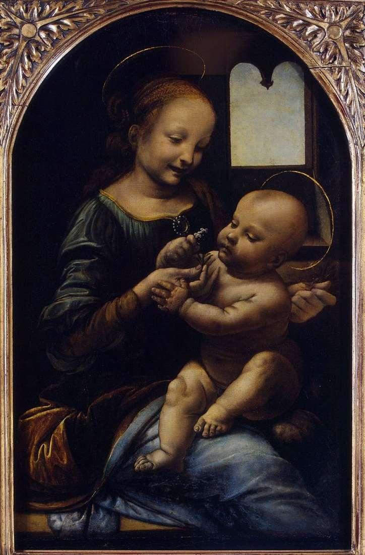 Madonna with a flower (Madonna Benoit) by Leonardo da Vinci