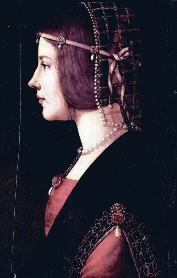 Portrait of Beatrice d'Este by Leonardo da Vinci