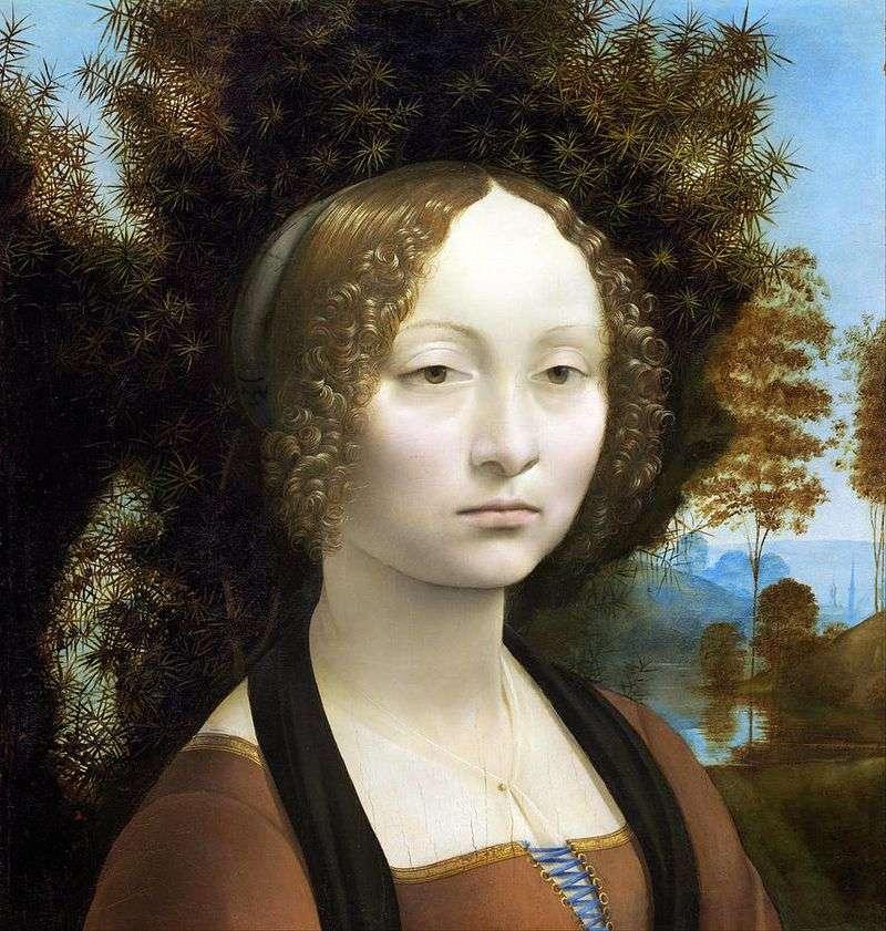 Portrait of Genera de Bensi by Leonardo da Vinci