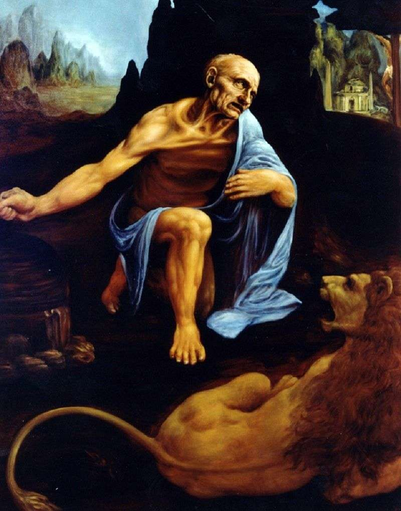 Saint Jerome by Leonardo Da Vinci
