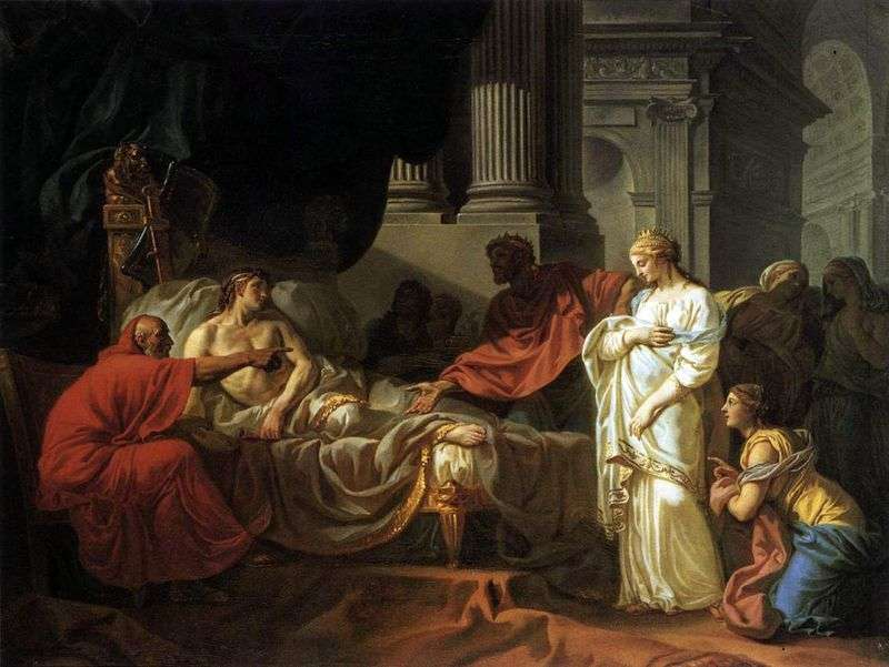 Antiochus and Stratonica by Jacques Louis David