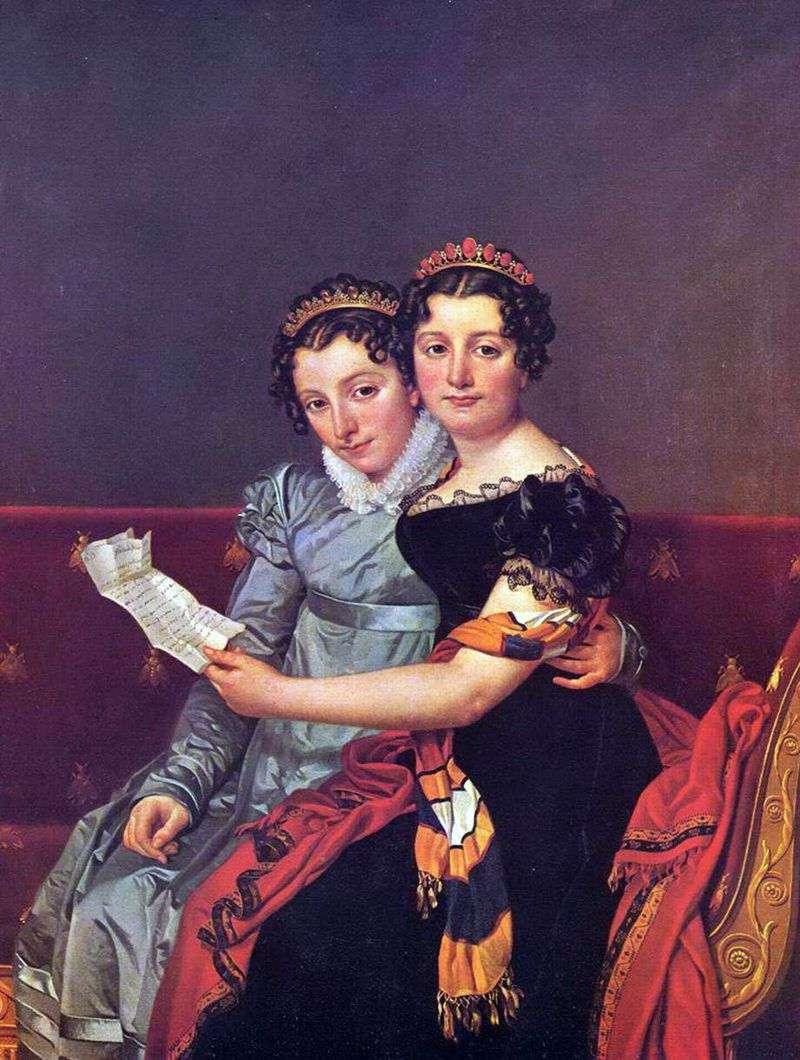 Zinaida and Charlotte Bonaparte by Jacques Louis David