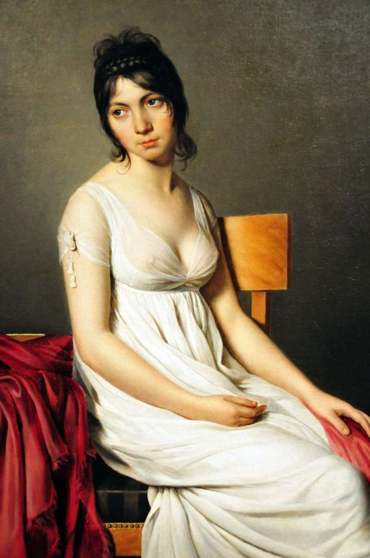 Portrait of Giovanna Donna in white by Jacques Louis David