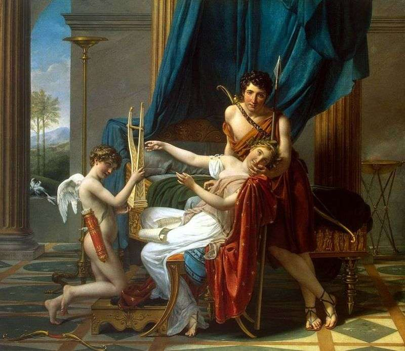 Sappho and Faon by Jacques Louis David