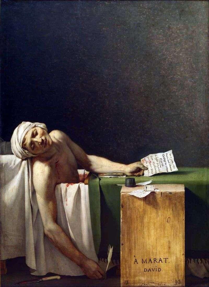 Death of Marat by Jacques Louis David