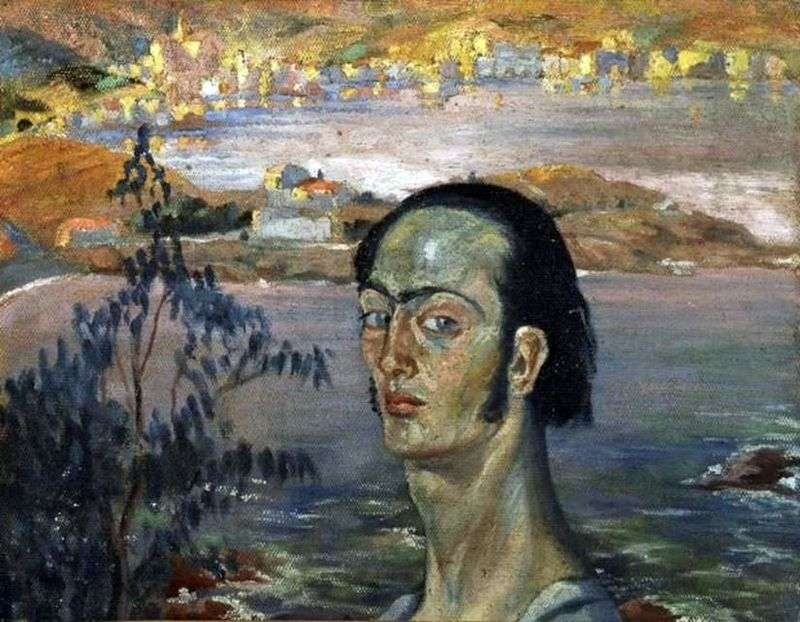 Self portrait with Raphaels neck by Salvador Dali