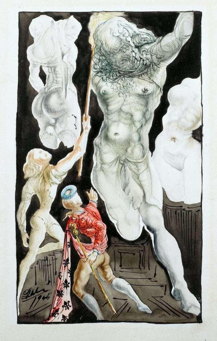 Benvenuto Cellini and Jupiter by Salvador Dali