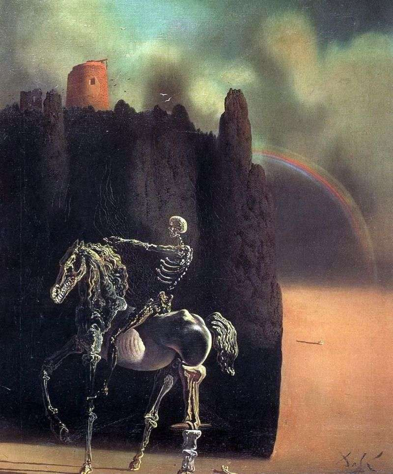 A rider named Death by Salvador Dali
