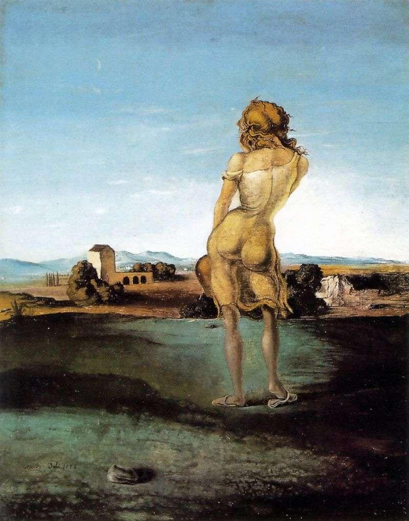 A girl from Ampurdan by Salvador Dali