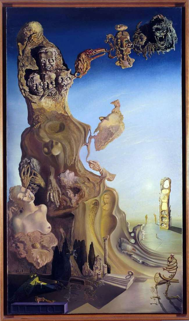 Imperial monument to the woman child by Salvador Dali
