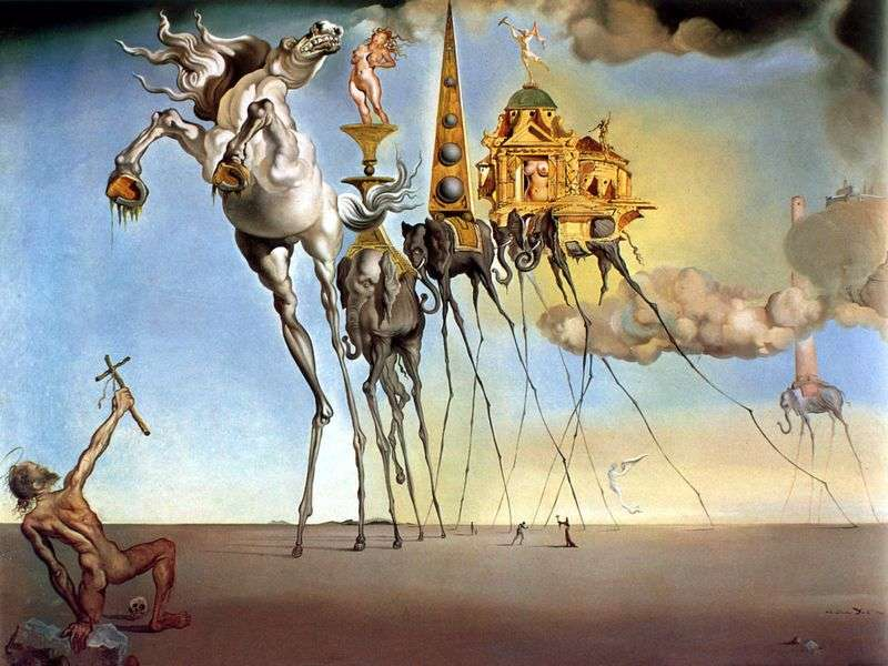 The Temptation of Saint Anthony by Salvador Dali
