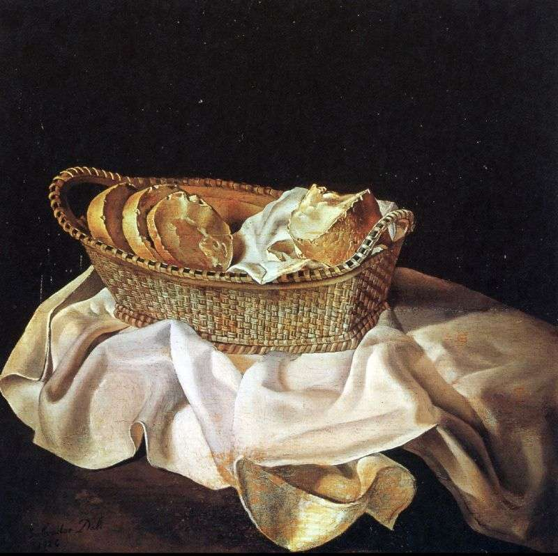 Basket with bread by Salvador Dali