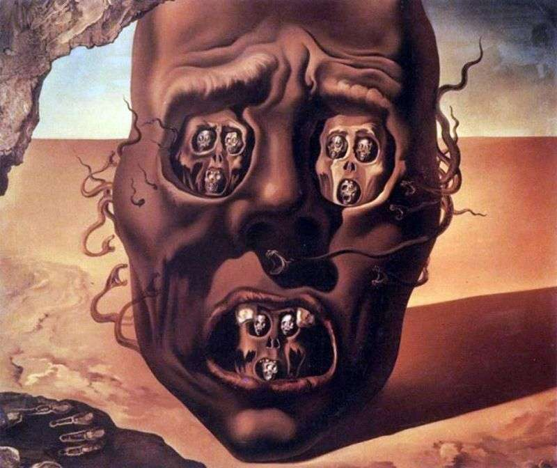 The face of the war by Salvador Dali